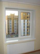 откосы на двустворчатое окно фото