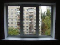 откосы на трехстворчатое окно фото
